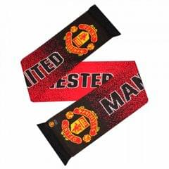 Manchester United FC Official Crest Design Speckled Scarf