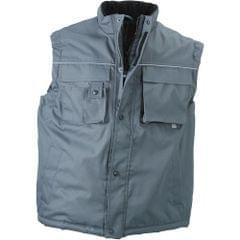 James and Nicholson Unisex Fleece Lined Workwear Vest