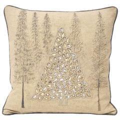 Riva Home Advent Zierkissenbezug mit Baum-Motiv