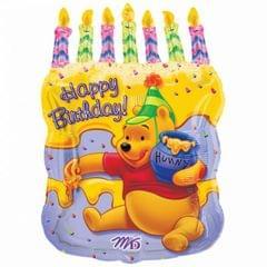 Anagram - Winnie The Pooh Kuchen mit Kerzehn