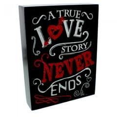 Signography By Juliana A True Love Story Never Ends Mantel Plaque