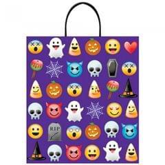 Amscan Halloween Emoticon Plastic Treat Bag