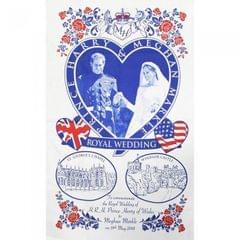 Prince Harry And Meghan 2018 Royal Wedding Tea Towel
