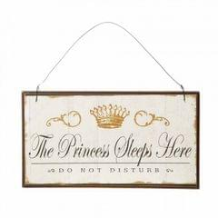 Heaven Sends - Plaque décorative 'Princess Sleeps Here'