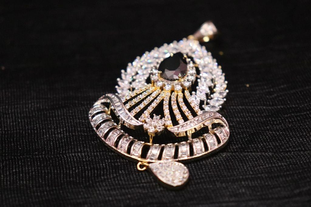 American Diamond Pendant Set with 1 year warranty