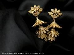Gold Plated earring/Jhumka with an year warranty