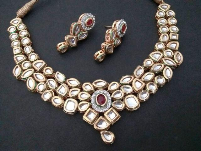 Triple Layered High Class Kundan Necklace with an year warranty
