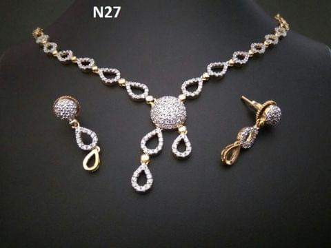 American Diamond Necklace . 1 year warranty