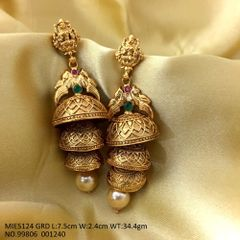 Beautiful pair of earrings with an year warranty