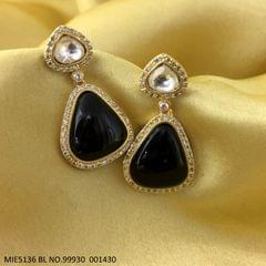 American Diamond + Semi Precious Stone earring  with an year warranty
