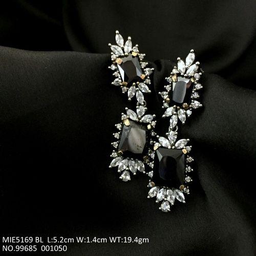 American Diamond + Semi Precious Stone Jhumka with an year warranty