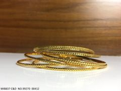 Beautiful set of 4 Bangles with an year warranty