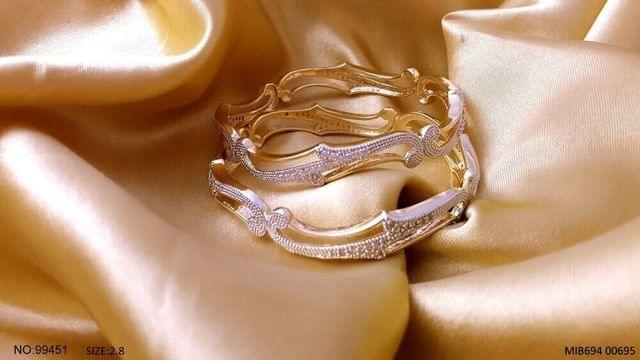 American Diamond Bangles with an year warranty