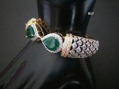 American Diamond Kada with Semi Precious Stone
