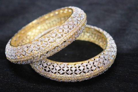 Buy these pair of pure American Diamond Bangles