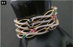 American Diamond bangles studded with semi precious stones