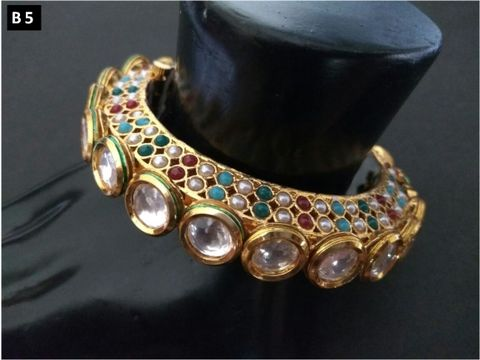 Beautiful Kada Studded with semi precious Stones