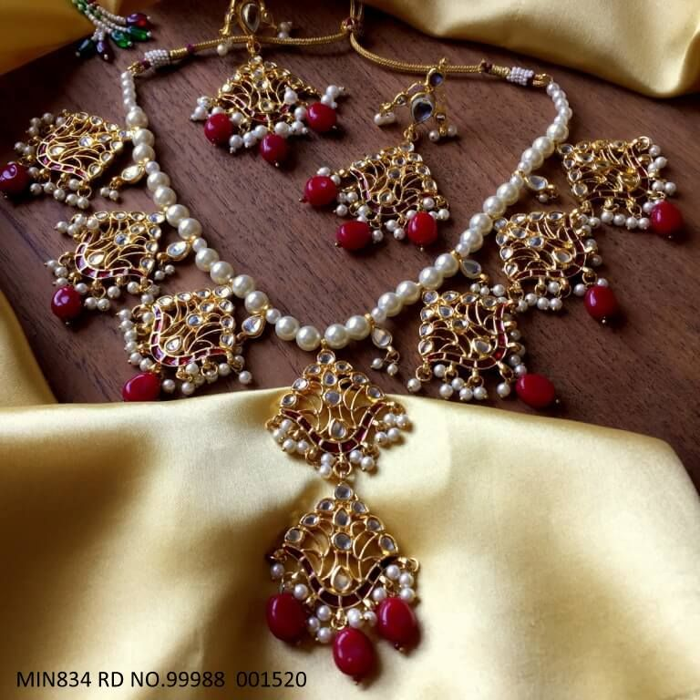 Beautiful Kundan set and beautiful pair of Jhumki