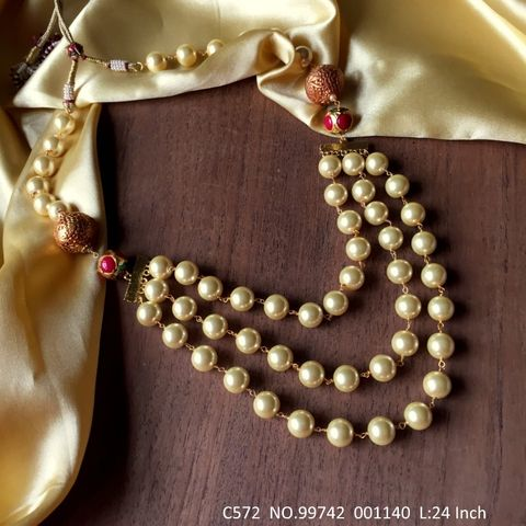 Buy these beautiful chain necklace made of High quality fresh water pearl