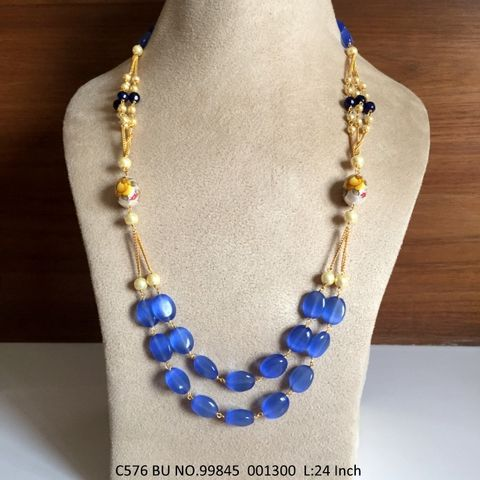 Beautiful chain necklace made of High Quality Stones - 1 year warranty