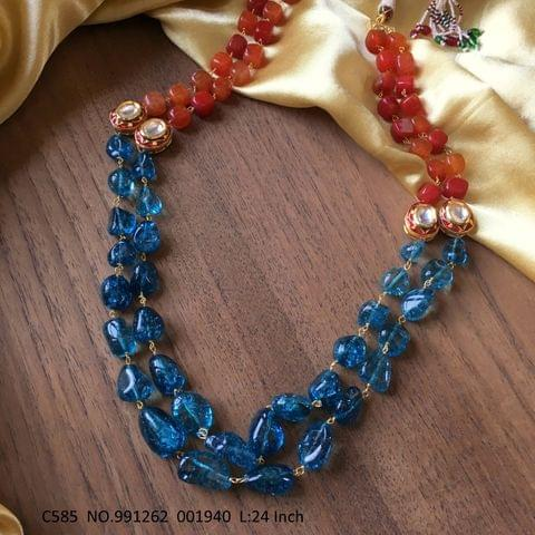 Beautiful chain necklace made of High quality Beads and stones