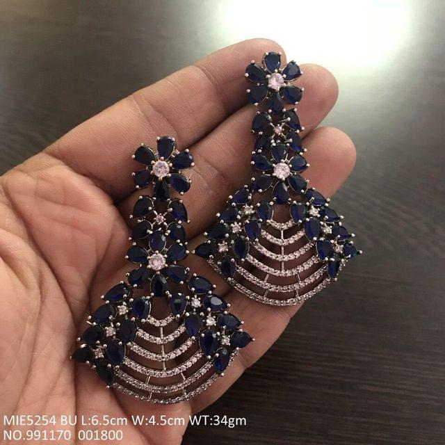 American Diamond Danglers with an year warranty