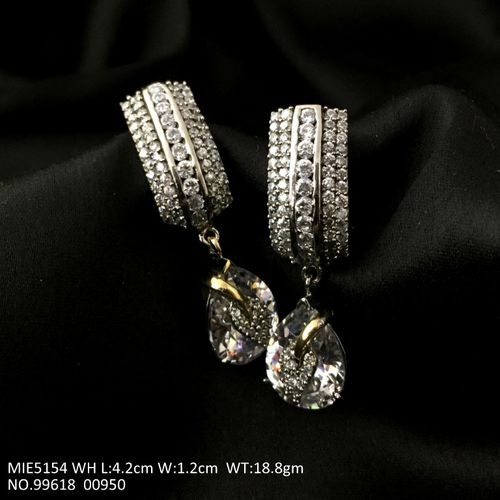 American Diamond Danglers/Jhumka with an year warranty
