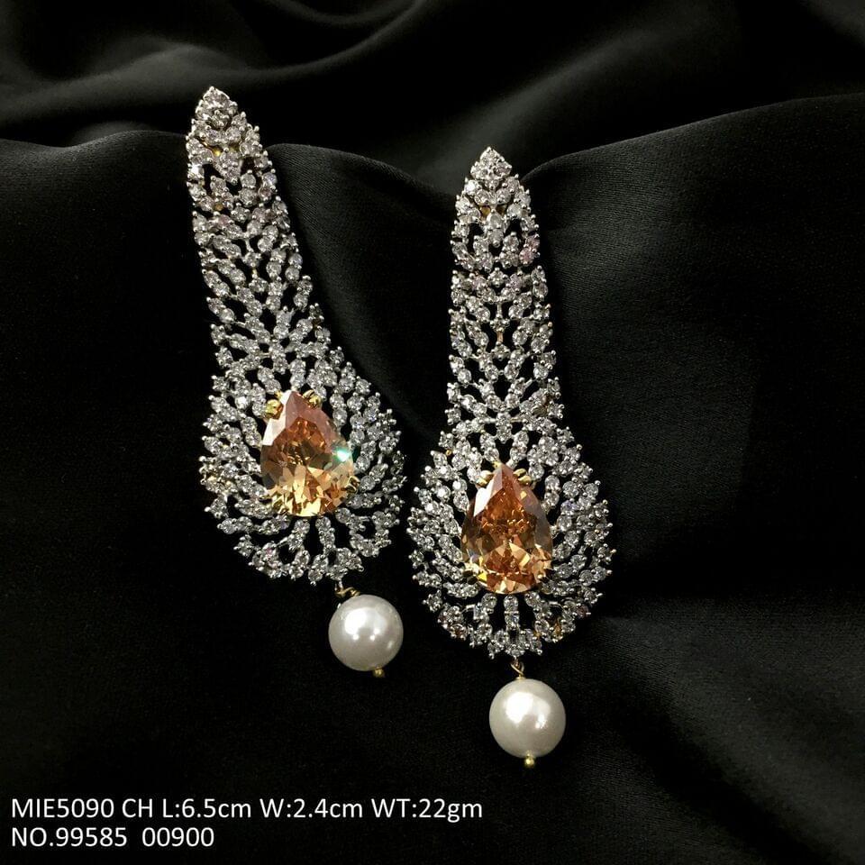 American Diamond Dangler with semi precious stone