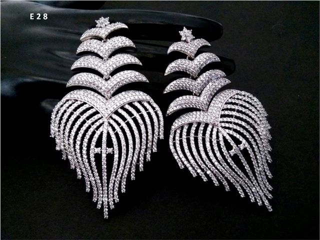 American Diamond Dangler with an year warranty- Extremely Light to Ears