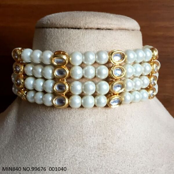Beautiful Kundan+ Pearl necklace with an year warranty