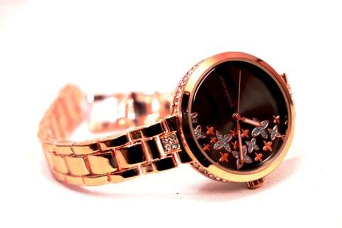 Diamond Studded Watch with an year warranty