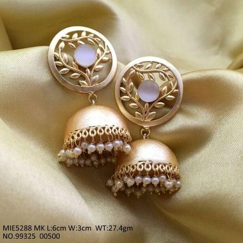 Brass Earring with an year warranty- Gold plated