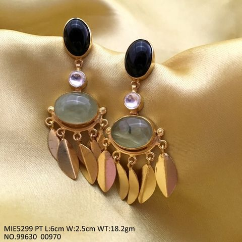 Semi Precious Stone Dangler with an year warranty