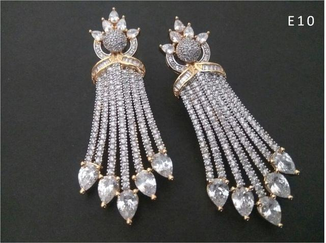 Beautiful pair of American Diamond Dangler with an year warranty