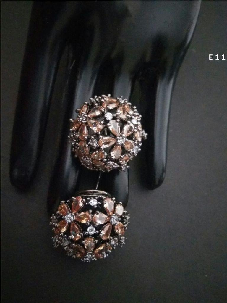 Buy this beautiful pair of American Diamond Studs with an year warranty