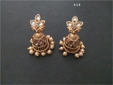 Brass+ Gold Plated Earring with an year warranty