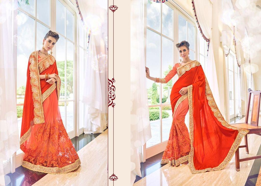Art Silk Saree nd net saree with Banglori Silk Blouse and Embroidery,Patch Resham Work