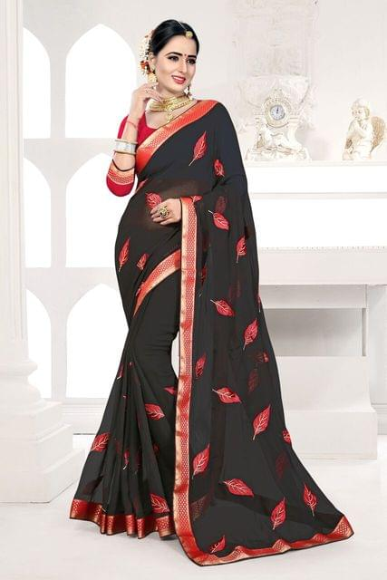 Jacquard Silk Saree Art Silk Blouse and  Coding Work