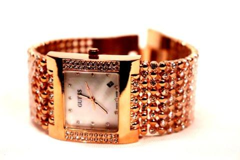 Beautiful Watch with wide strap- Bracelet Design Watch