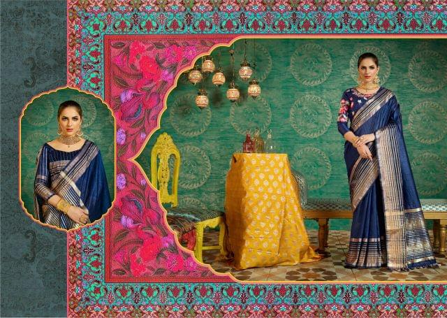 Handloom Art Silk Saree with Handloom Art Silk Blouse with Weaving With Jari & Thread Work