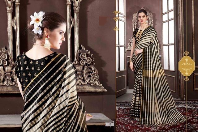 Handloom Art Silk Saree with  Art Silk Blouse with Weaving With Jari Embroidery