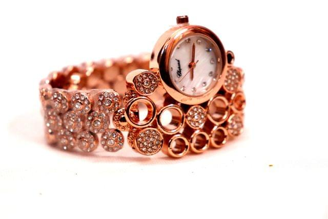 Buy this beautiful artificial diamond studded watch with an year warranty.