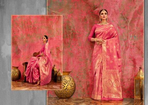 Banarasi Art Silk Saree with Banarasi Art Silk Blouse. Weaviing work on saree