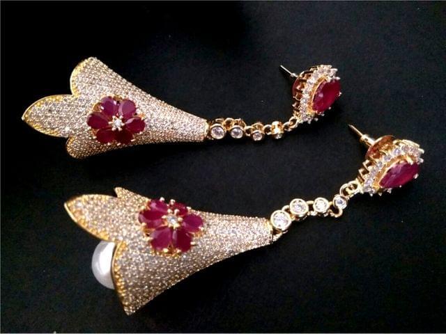 American Diamond Earrings/Danglers with an year warranty