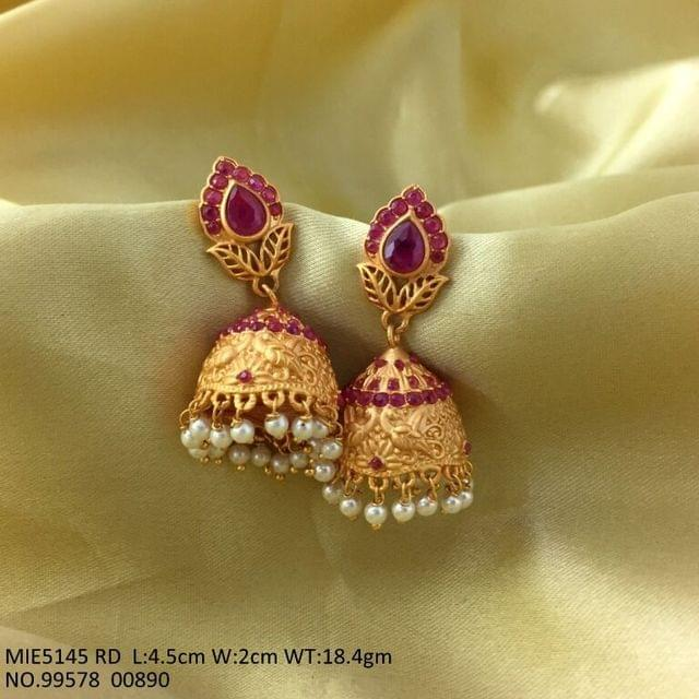Gold Plated+ Brass Earring with an year warranty