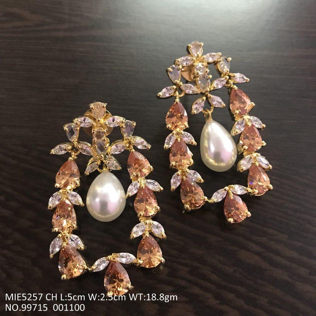 American Diamond + Pearl + Semi Precious Stone