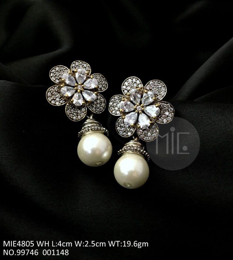 American Diamond Dangler with precious stones