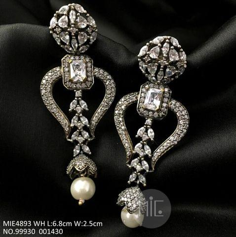 American Diamond Dangler with precious stones