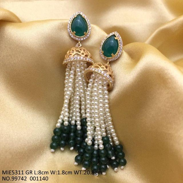 Beautiful Dangler with an year warranty-Pearl +Semi Precious Stone