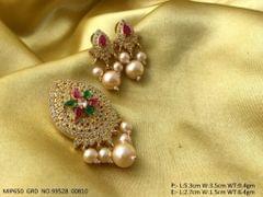 American Diamond Pendant Set with beautiful pair of Earrings- 1 year warranty